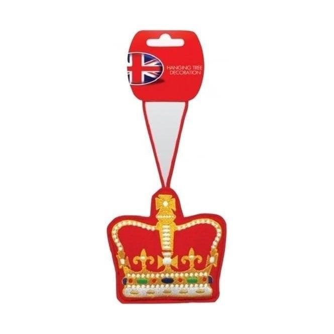 Union Jack Wear Royal Crown Christmas Tree Decoration