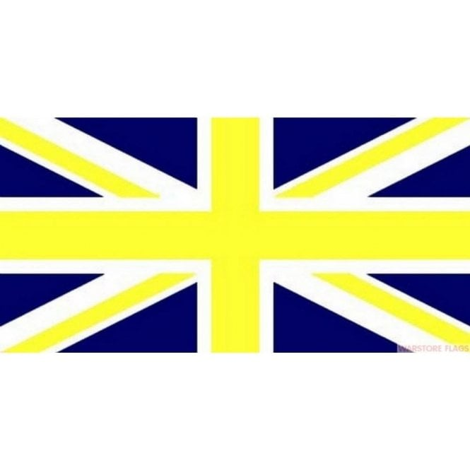 Union Jack Wear Blue and Yellow Union Jack Flag 5' x 3' Great Britian