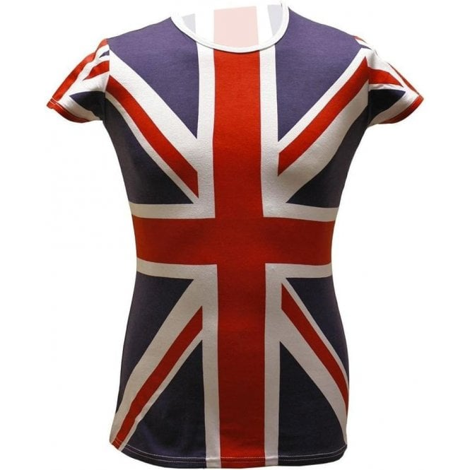 Union Jack Ladies T shirt Long Length with Lycra