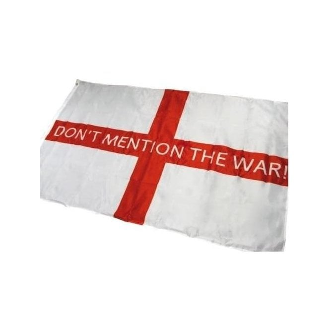 "Don't Mention the War"" England St George Flag 5'x3'"