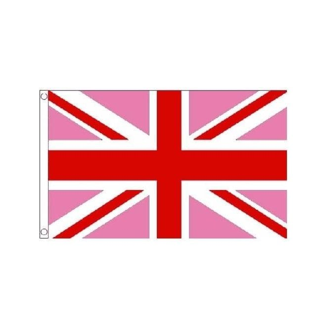 Union Jack Wear Pink Union Jack Flag