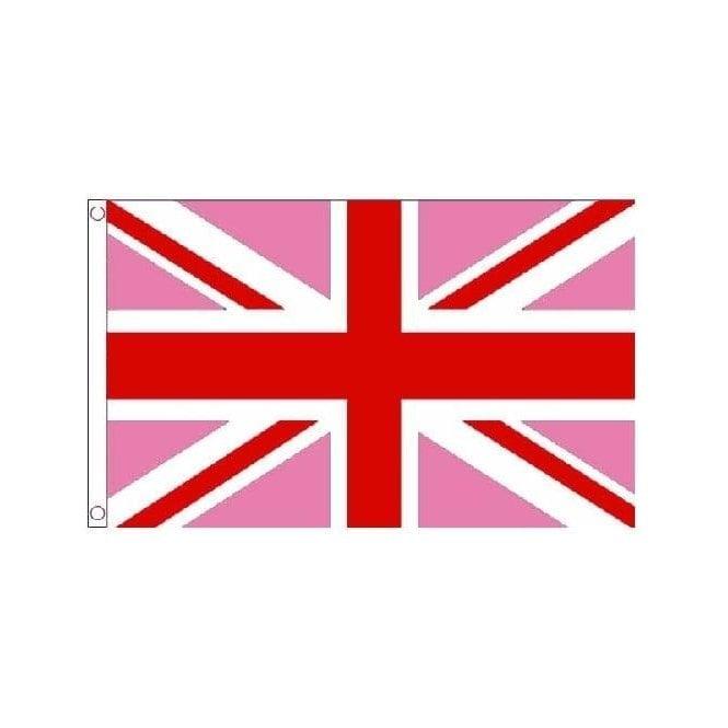 Union Jack Wear Pink Union Jack Flag