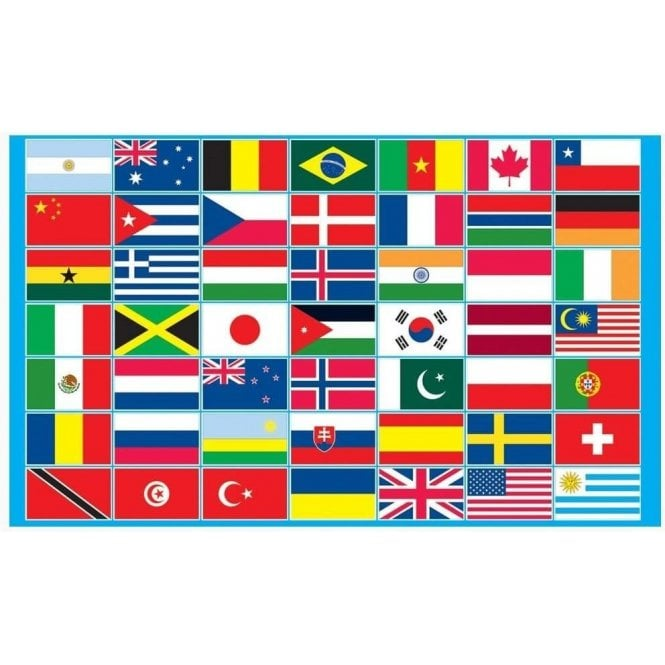 Union Jack Wear Multi Country Flag 5' x 3'