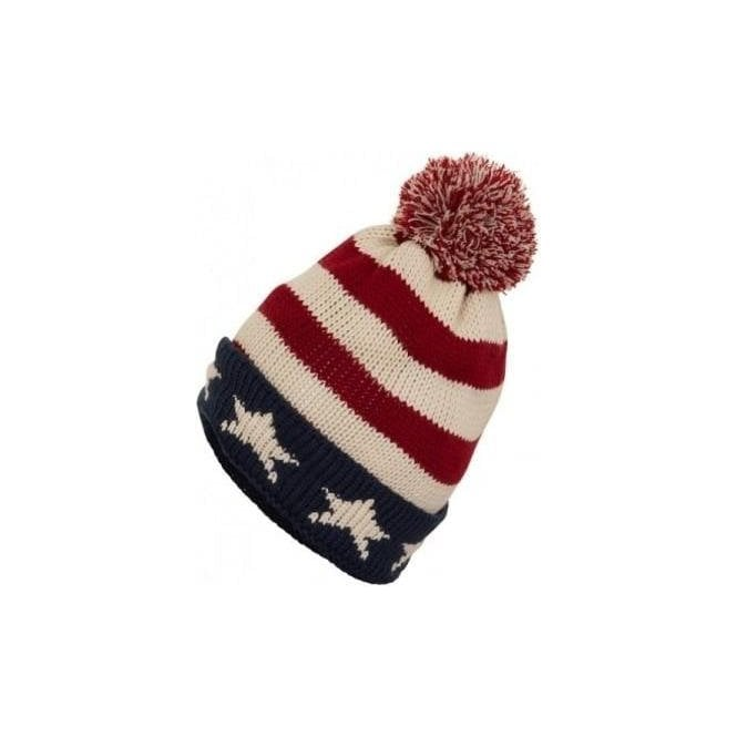 USA Stars and Stripes knitted Pom Pom Bobble Hat dcc85fe7101
