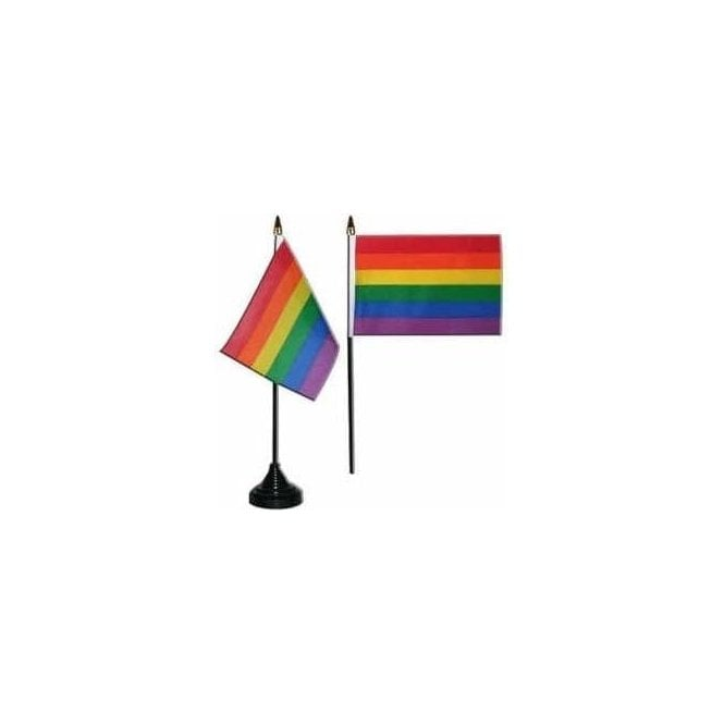 Union Jack Wear Rainbow/Gay Pride Table Flags