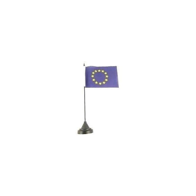 Union Jack Wear Euro Blue Star Table Flag