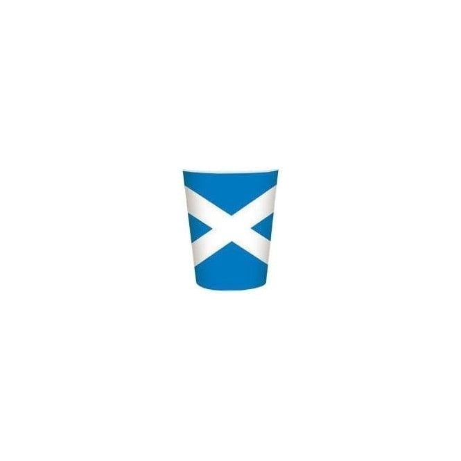 Union Jack Wear Scotland Flag Party Cups 8 Pack Saltire