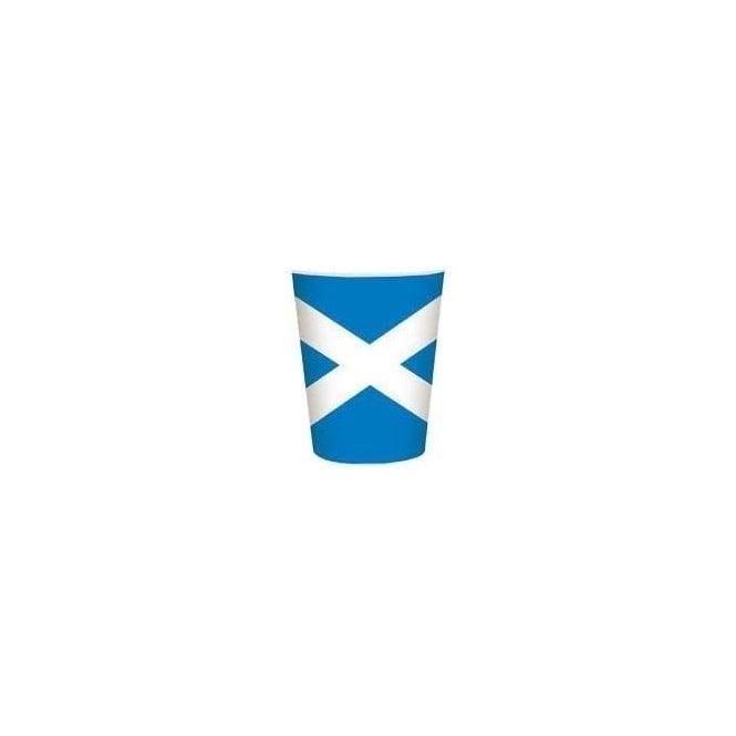 Union Jack Wear Scotland Flag Party Cups 8 Pack Saltire
