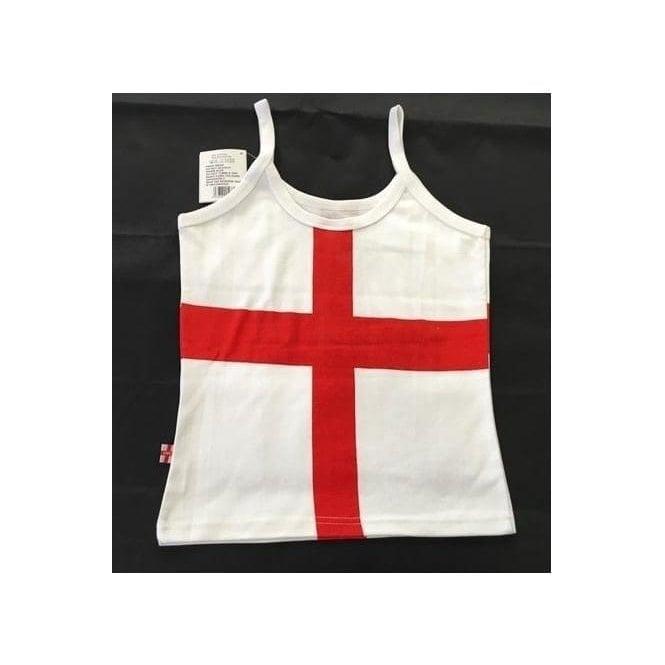 Union Jack Wear St George England Strappy Vest Top - Ladies