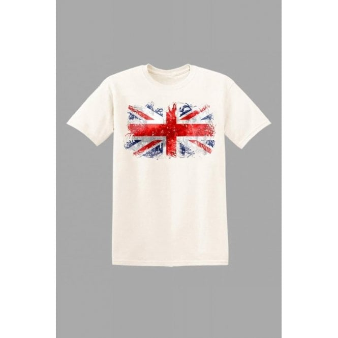 Union Jack Wear Union Jack Kids Abstract T-Shirt in White
