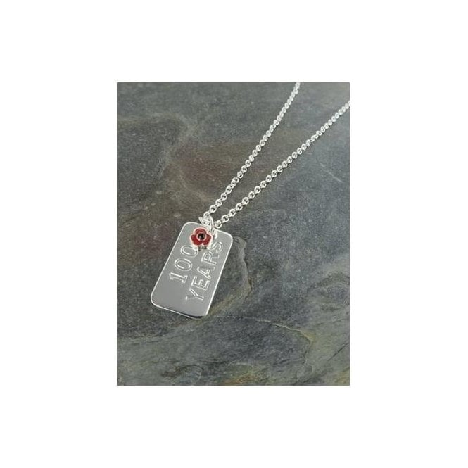 Union Jack Wear Poppy Identity Tag Necklace