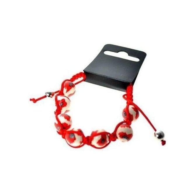 Union Jack Wear Designer Poppy Fimo Bracelet