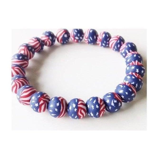 Union Jack Wear USA Stars & Stripes Fimo Bracelet