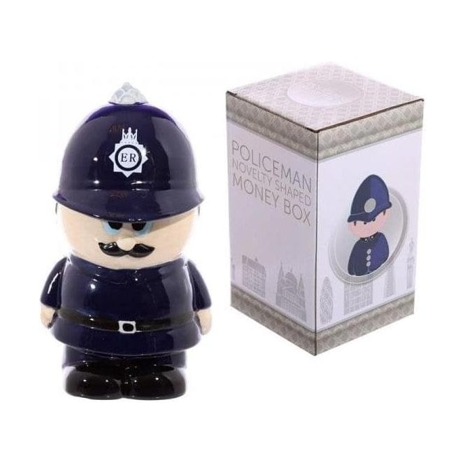 Union Jack Wear Policeman ceramic moneybox - Piggy Bank - money box
