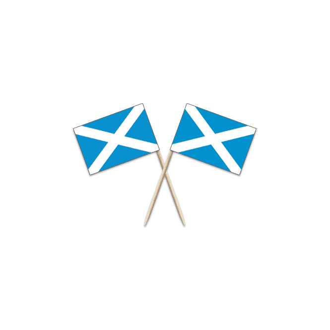 Union Jack Wear Scotland St Andrews Flag Party picks - pack of 100