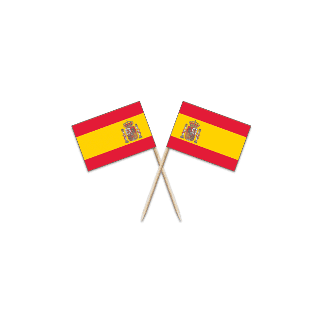 Union Jack Wear Spain Flag Party picks - pack of 100