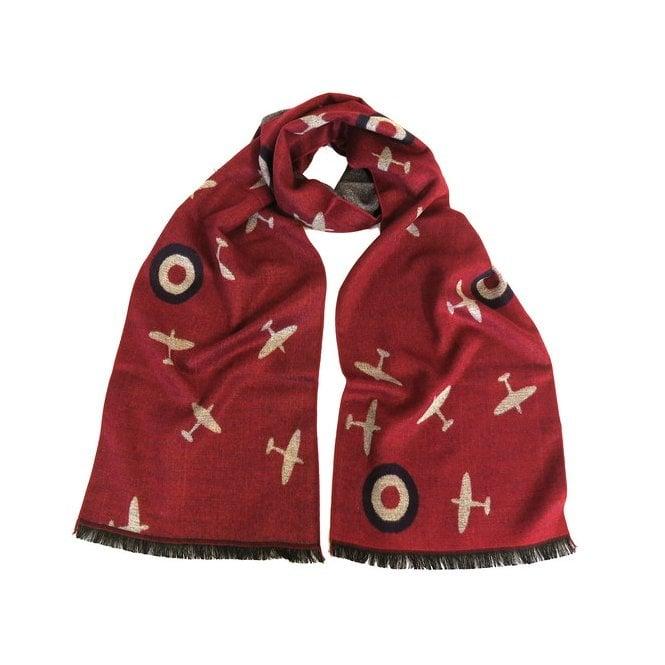 Union Jack Wear Spitfire Scarf - RAF Red Spitfire scarf