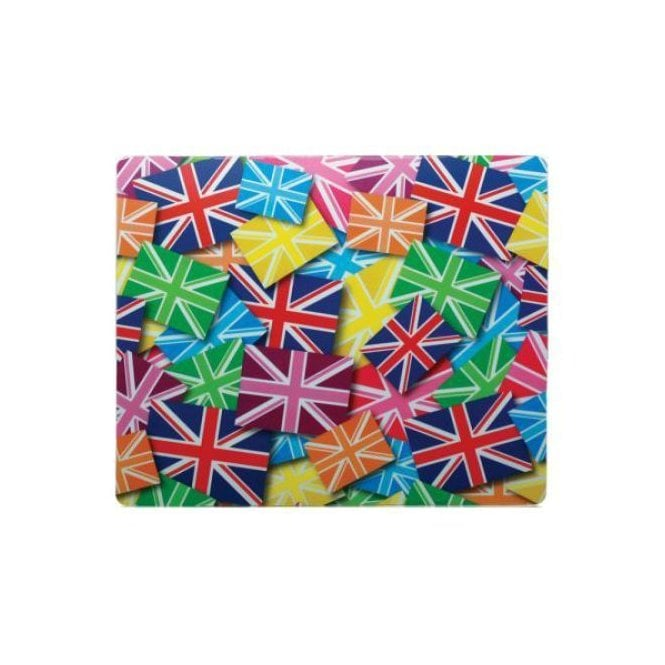 Union Jack Wear Union Jack Mouse Mat - Multi Union Jacks in Multi Colours