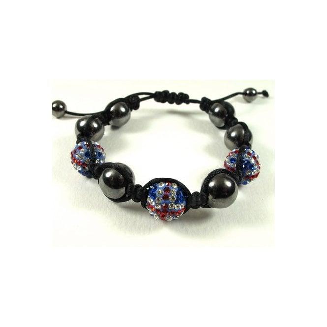 Union Jack Wear Union Jack Shamballa Bracelet