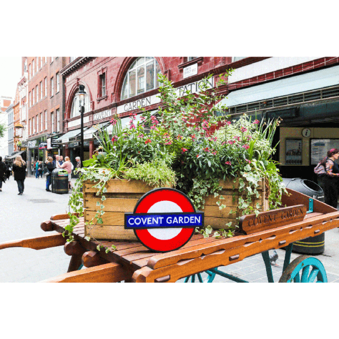 Gingersnap London Underground Lightbox Sign with 10 Tube Stations England UK