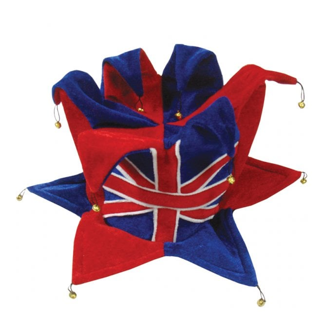 Union Jack Wear Union Jack Jester Hat - With Bells top and bottom