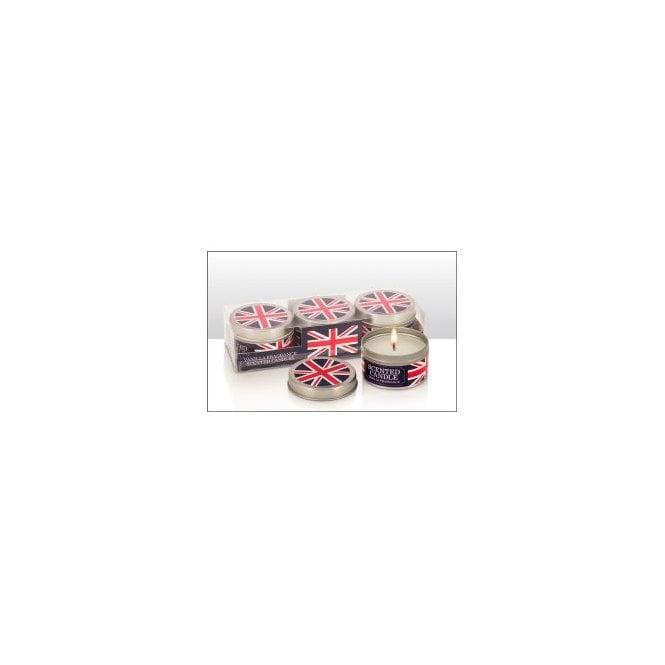 Union Jack Wear Union Jack Vanilla Scented Tin Candles - Set of Three