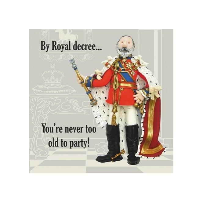Union Jack Wear Edward V11 Birthday Card