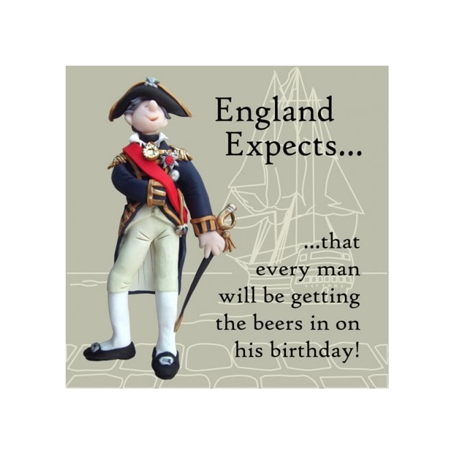 Union Jack Wear Nelson - England Expects Birthday Card