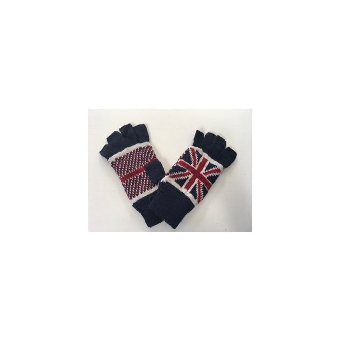 Union Jack Wear Union Jack Wooly Fingerless Gloves