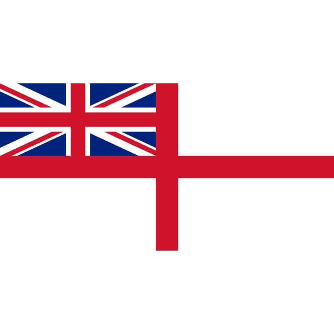 Union Jack Wear White Ensign Hand Flag 2ft