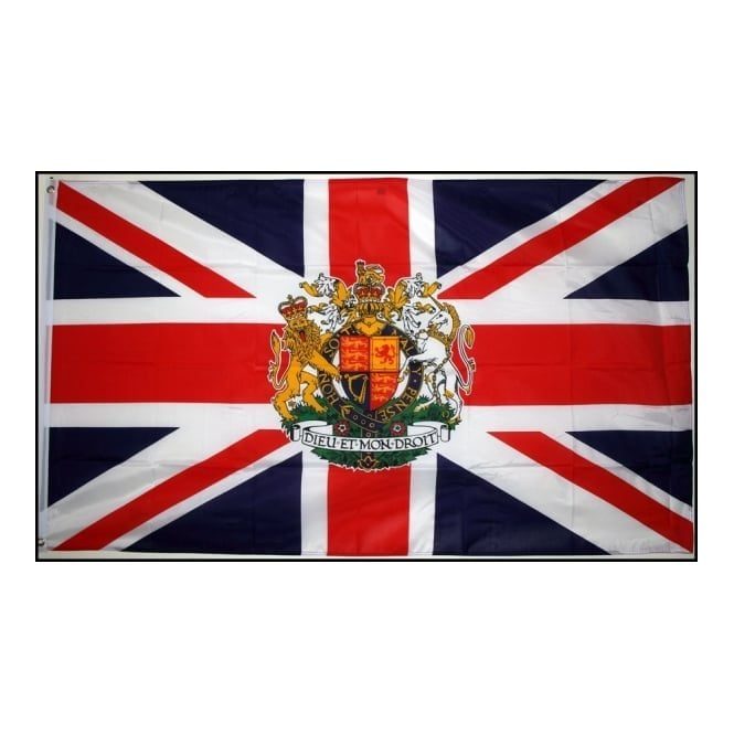 Union Jack Wear Union Jack Crest Hand Flag - 2ft pole