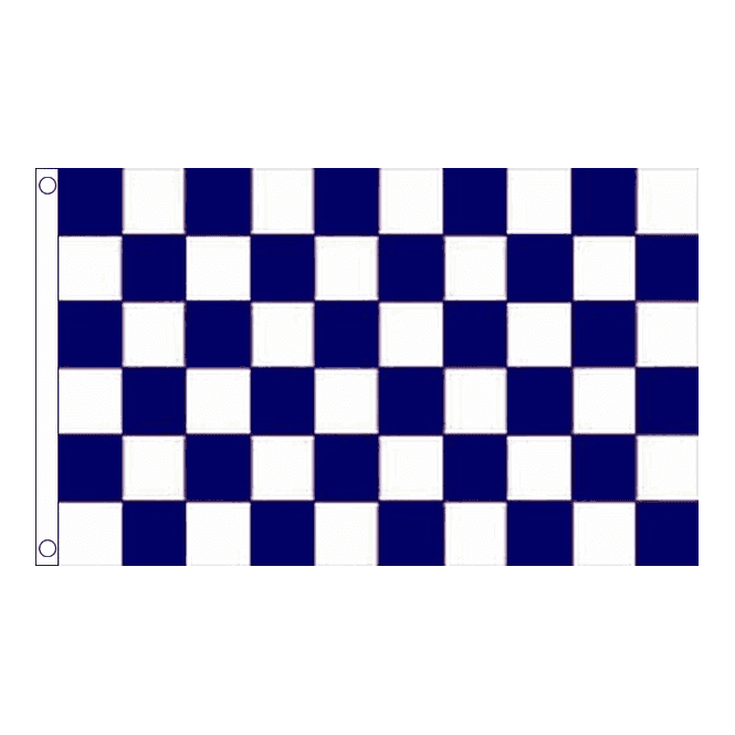 Union Jack Wear Blue & White Checkered Flag 5' x 3'