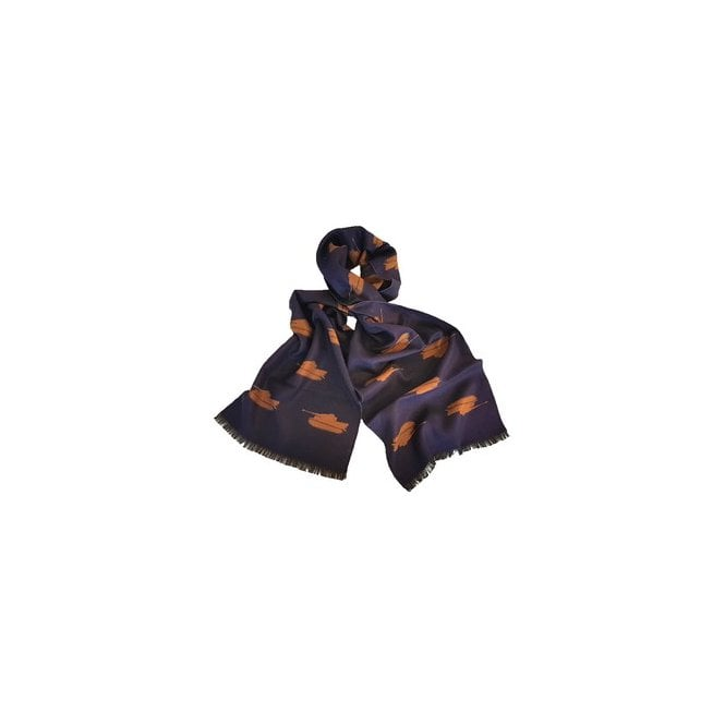 Union Jack Wear Tank Scarf - Tiger Tank Scarf, Navy and Gold