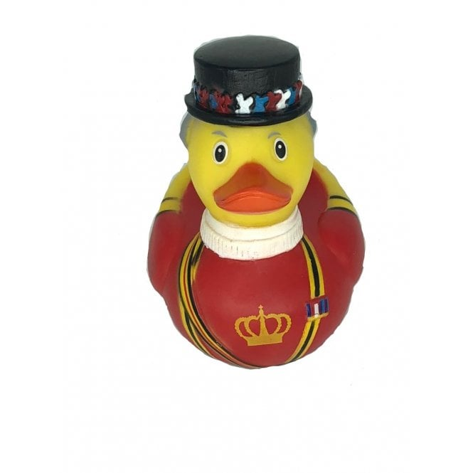 Union Jack Wear Beefeater Rubber Duck - Detailed with hat and robes