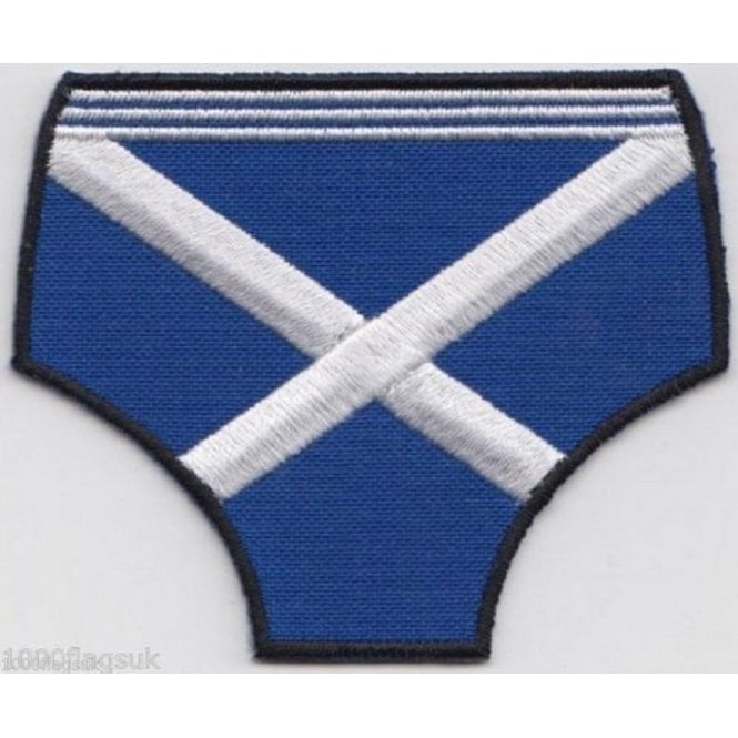 Union Jack Wear Scotland Flag Pants Embroidered Patch - Easy Iron On