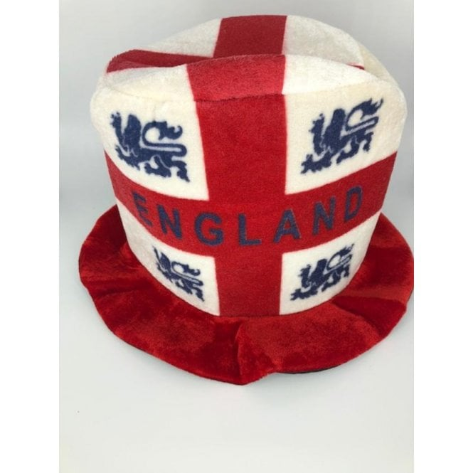 Union Jack Wear England St George flag topper hat - ENGLAND & Lions