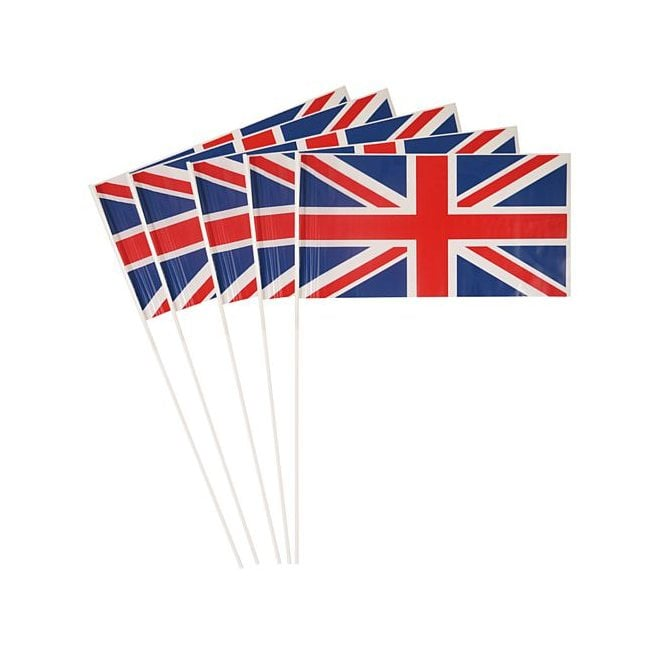 Union Jack Wear Union Jack Hand Flag - Pack of 25