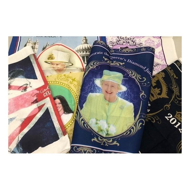 Union Jack Wear Six Royal Tea Towels - Retro pack