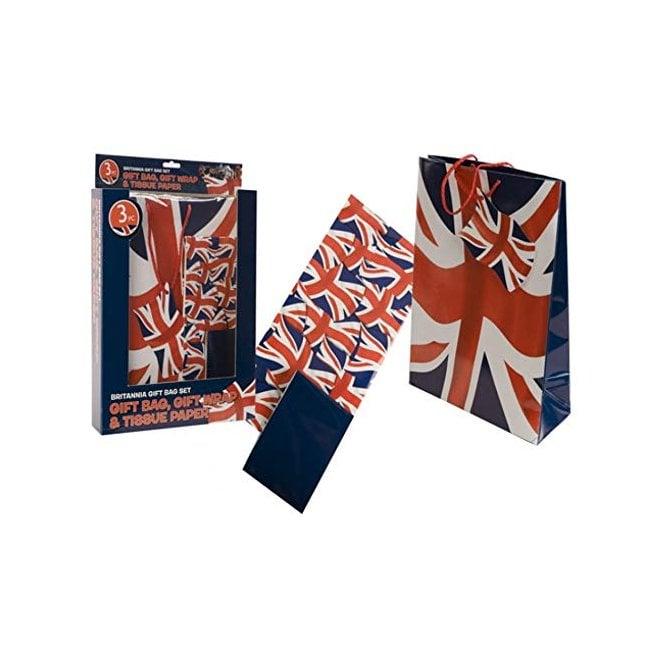 Union Jack Wear Union Jack Gift Bag set - Bag, Wrap and tissue paper
