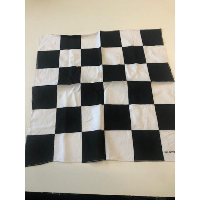 Union Jack Wear Black & White Checkered Bandana