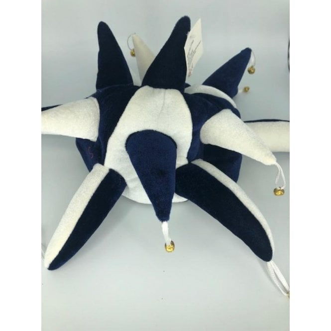 Union Jack Wear Blue and White Jester hat - With Bels