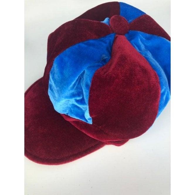 Union Jack Wear Claret & Blue Baker Boy Hat