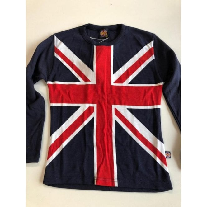 Union Jack Wear Union Jack Ladies long plain sleeve T shirt size 32