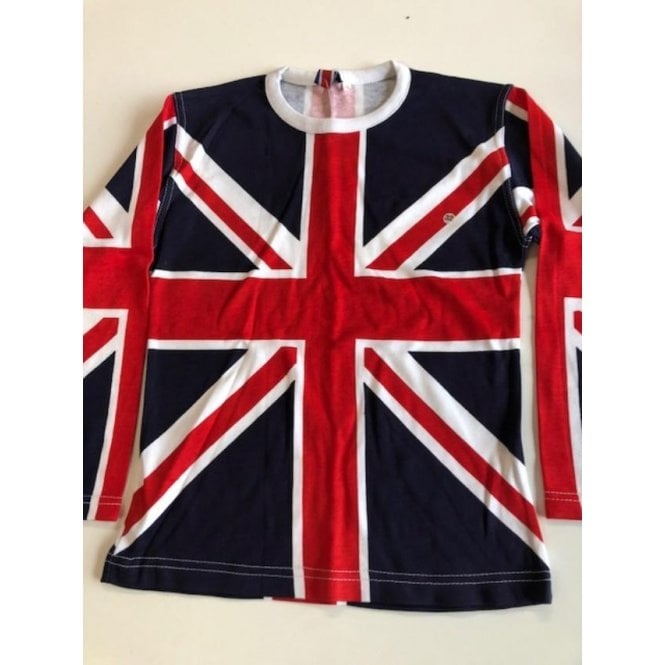 Union Jack Wear Union Jack Ladies long sleeve all over print T shirt size 32