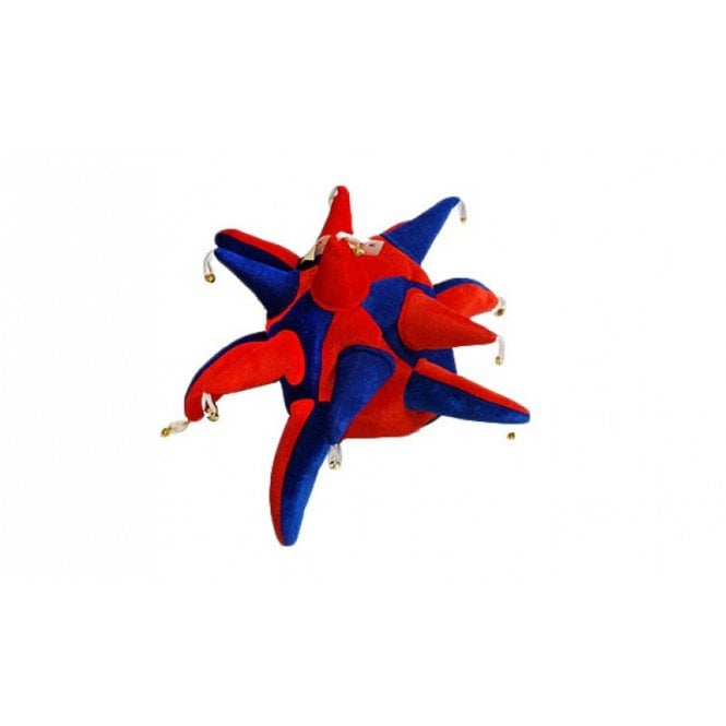 Union Jack Wear Red and Blue Jester hat with bells