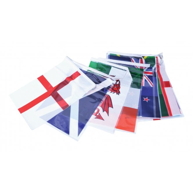 Union Jack Wear Rugby Nations World Cup Bunting 7m with Country Flags
