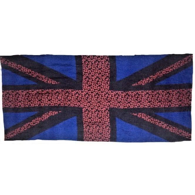 Union Jack Wear Union Jack Poppy Flag Scarf