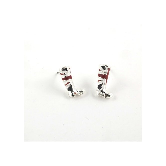 Union Jack Wear Union Jack Stud Earrings - Boots