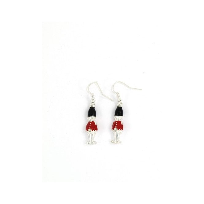 Union Jack Wear British London Guardsman Earrings