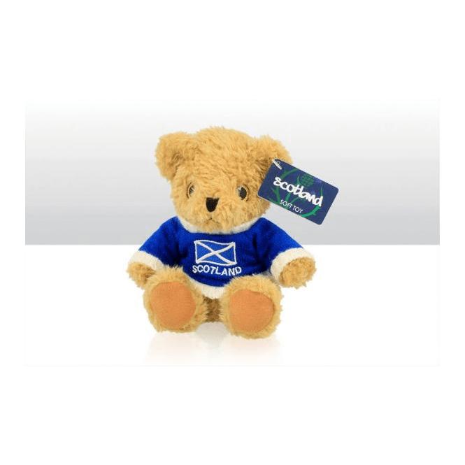 Union Jack Wear Teddy Bear with Scotland Jumper - 15cm